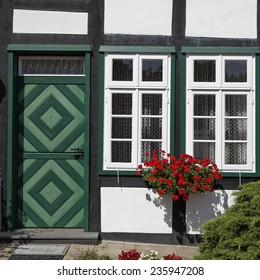 Schledehausen, Timbered house in Lower Saxony, Osnabrueck country, Lower Saxony, Germany, Europe