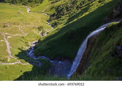 Schleierfall cascade in Tux Tyrol Austria