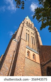 Schleswig Cathedral tower and spire.