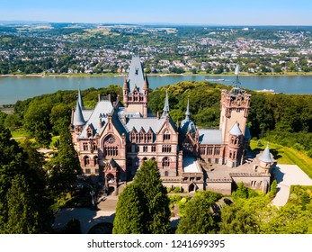 Schloss Drachenburg Castle is a palace in Konigswinter on the Rhine river near the city of Bonn in Germany
