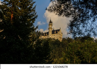 Schloss Neuschwanstein in Southern Germany; Historic Castle in the State of Bavaria; historic landmark