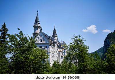 Schloss Neuschwanstein in the woods