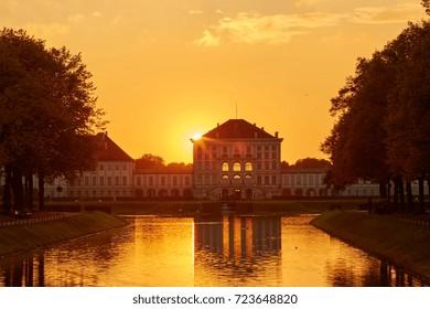 Schloss Nymphenburg Muenchen at Fall