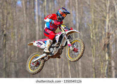 Schnaitheim,Germany-March 24,2019:46 Internationale Schnaitheim ADAC Motocross first roundon.