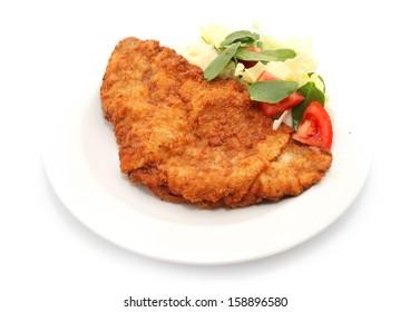 schnitzel isolated on white