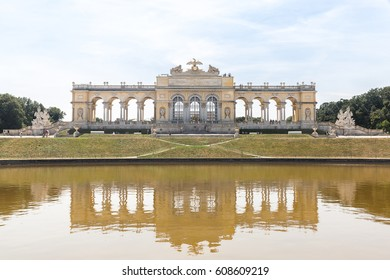 Schonbrunn Palace Garden Gloriette in Vienna Austria