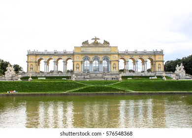 Schonbrunn Palace, Gloriette in Vienna, Austria. It is former imperial summer residence located in Vienna, Austria of Habsburg Family. Photo was taken in 2010 September.