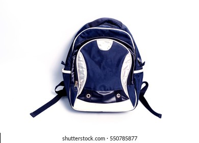 school backpack isolated on white background.Tourist backpack isolated on white.
