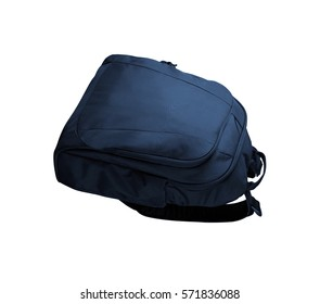 School bag isolated on white background