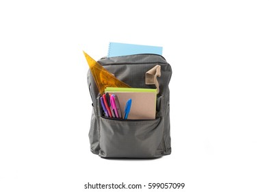 School bag  isolated on white background.