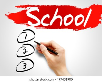 School blank list, business concept background