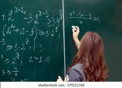 school board, math formula, schoolgirl