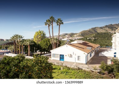school building in almunecar town on the spains south coast.