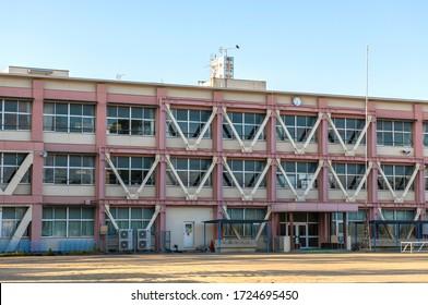 School building. Exterior of school.