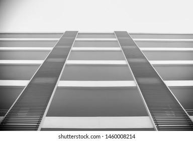 school building tower floor up angle