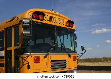 School bus front end