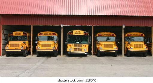 School bus garage.