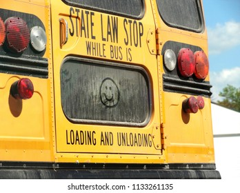 School Bus with a Happy Face