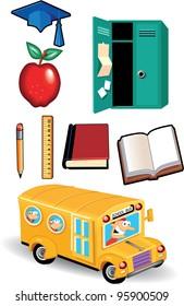 School Bus and School Items