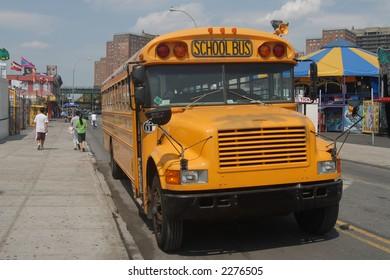 School bus in New York City