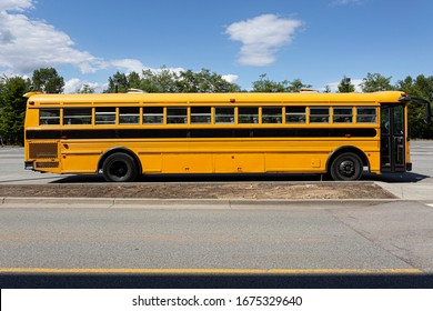 School bus on a bright, sunny day
