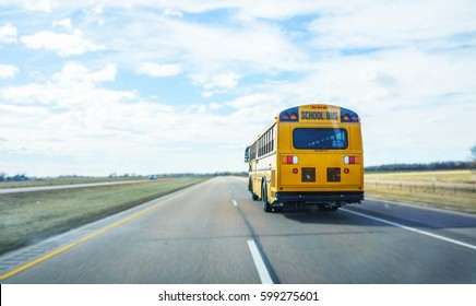School Bus on the freeway