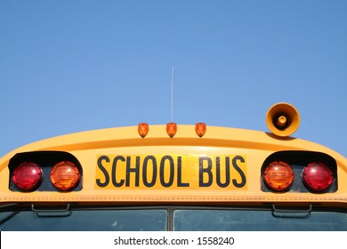 school bus with space for writing-front
