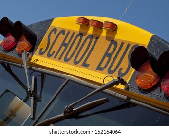 School buses parked near the high school.