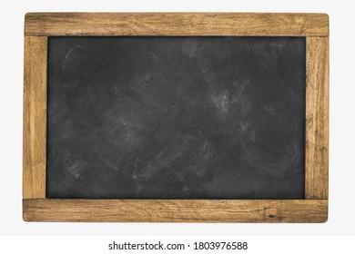School chalk board with vintage wooden frame. Background.