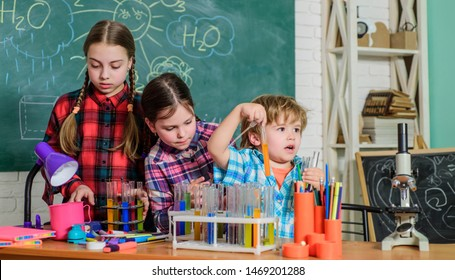 School chemistry laboratory. back to school. Science and education. chemistry lab. happy children. Laboratory Research - Scientific project For Chemical test. With chemistry, we can.
