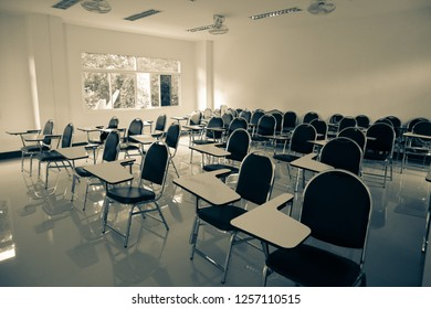 School classroom without young student and teacher- Image