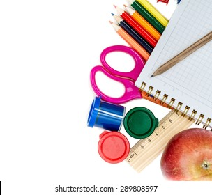School concept isolated on white background