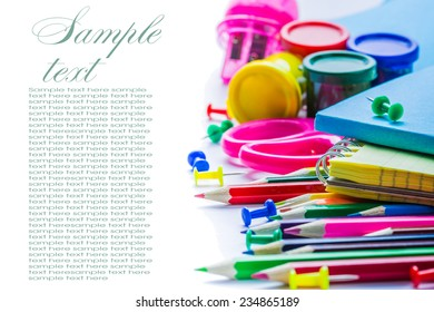 School concept on white background, isolated