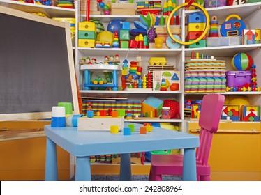 school desk in the children room