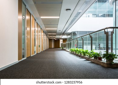 school, education and learning concept - empty school corridor