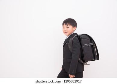 School entrance ceremony boys