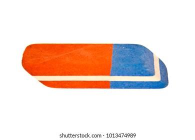 school eraser for erasure isolated on white background