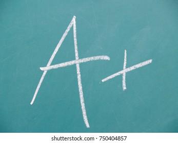 School Grade Chalkboard