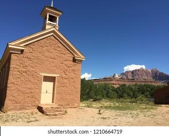 School house in Grafton ghost town, Utah. Famous movie set