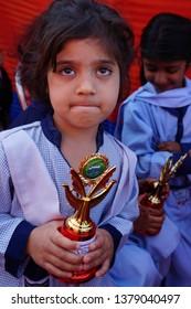 School kids, Annual Day Pretty Faces & Happy Moments in IFA Grammer School Larr Multan, Pakistan.  April,20,2019