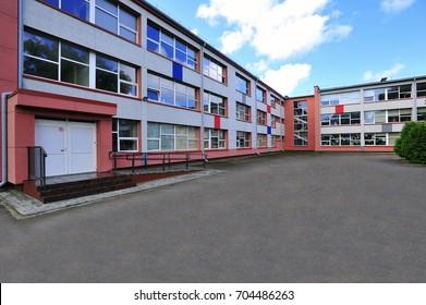 School. Modern building.