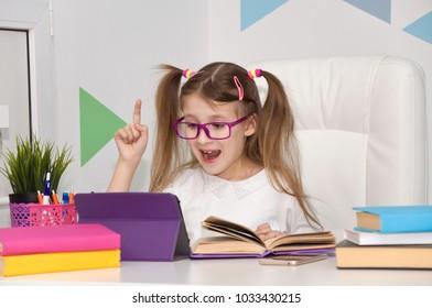 school. modern education of children. homework for schoolchildren