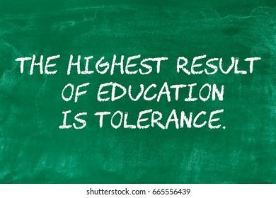 School motivational messages written on a green board, beginning of a school or a back to school