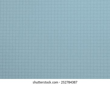School notepad, notebook grid background -  blue color