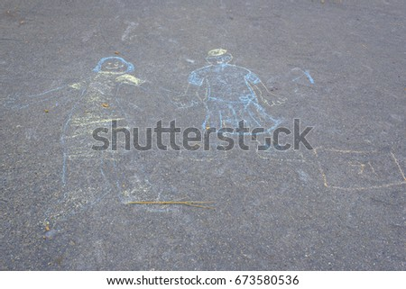 school playground drawings two people stock photo edit now