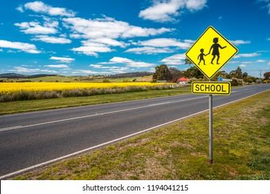 School road sign in Australia
