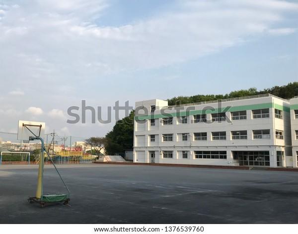 school building andschoolyard