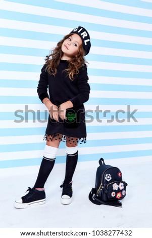 School Small Baby Girl Dress Schoolgirl Stock Photo Edit Now