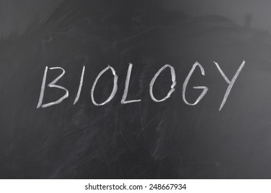 School Subject and Blackboard