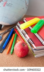 Measuring school supplies stock images royalty free images school supplies writing utensils voltagebd Images